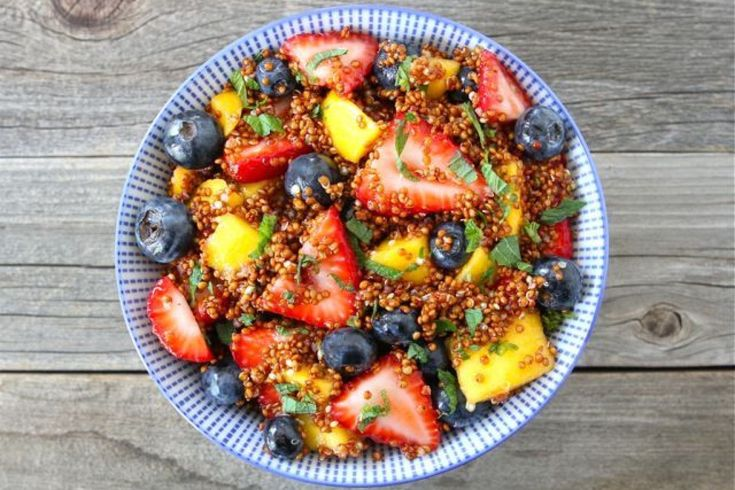 Blueberry Peach Fruit Salad with Thyme | Feed Me | Pinterest