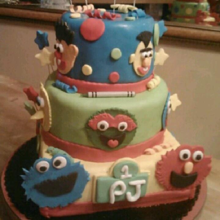 Cake Decorating Sesame Street Birthday : 720px