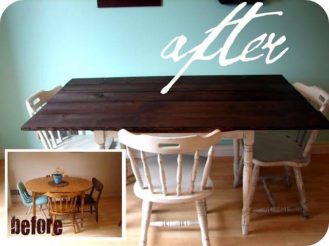 Table redo for the home pinterest - Kitchen table redo ...