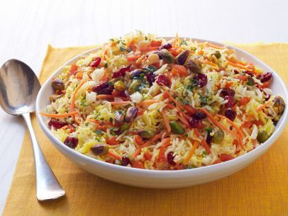 Saffron Fried Rice With Dried Apricots And Almonds Recipes ...