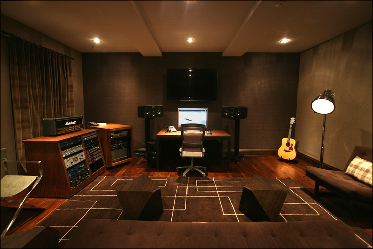 Modern music studio awesome studios pinterest for Music home studio design ideas