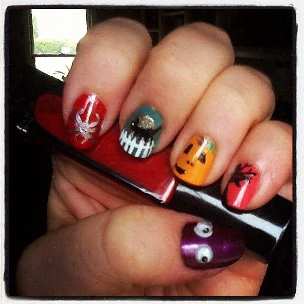 halloween nails diy