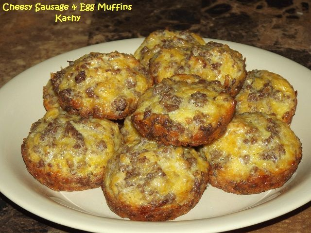 REC. REV. & PIC: Cheesy Sausage & Egg Muffins | Taste of Home ...