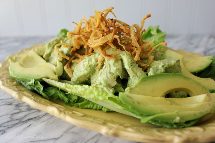 Gluten-Free Cilantro Pepita Chicken Salad w/Avocados and Shoestring ...