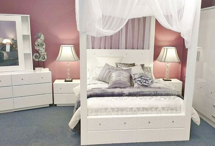 Michelle 4 poster bedroom suite furniture from beds n for Beds n dreams