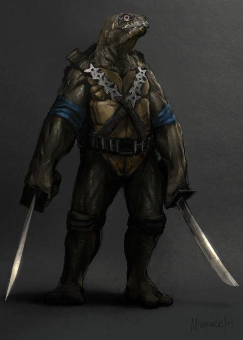 Realistic Teenage Mutant Ninja Turtles art, it turns out, is cool yet disturbing.