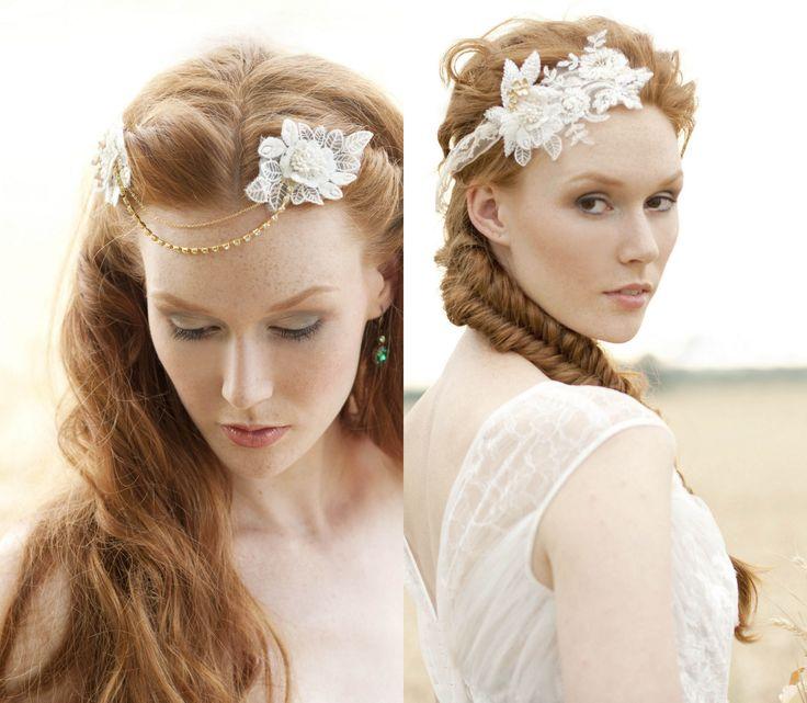 ... Headpiece #Weddinghair #wedding #braut #vintage wedding #Vintage #lace