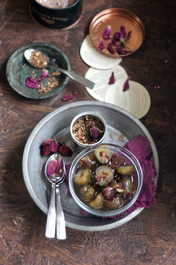 very upscale valentine... preserved figs with spices and rose petals