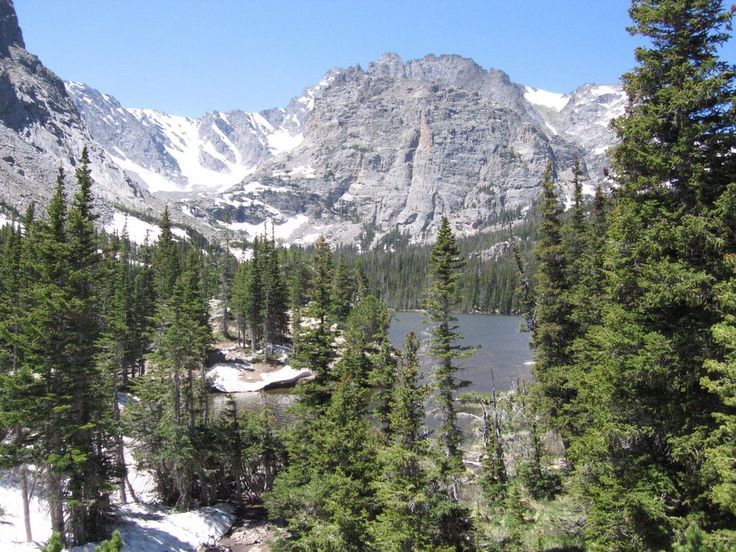 The great outdoors of Colorado Rocky Mountain National Park.