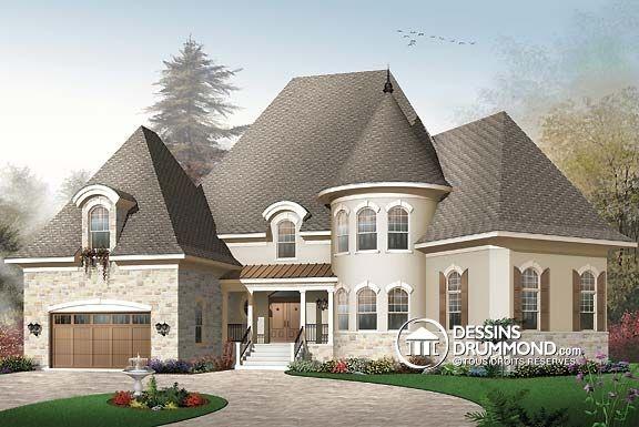 Pin by dessins drummond plan de maison plan de - Plan de maison luxueuse ...