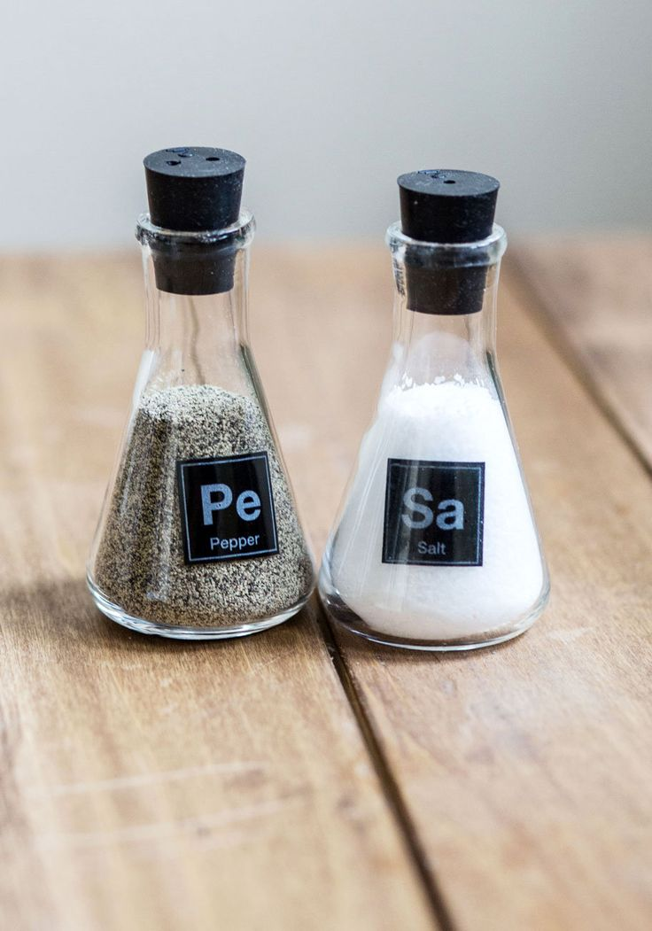 Pin by ashley parra perez on creativity pinterest - Chemistry salt and pepper shakers ...