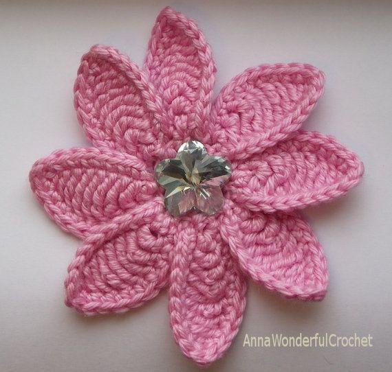 Crochet Decorative Flower Pattern, Crochet Flower Aster ...