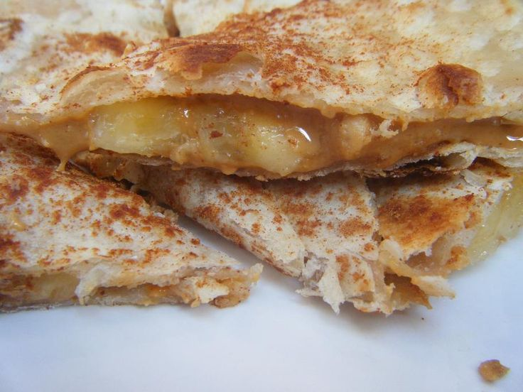 Peanut Butter and Banana Quesadilla | Baby led weaning | Pinterest