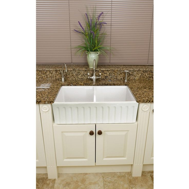 32 Farmhouse Sink : Fireclay 32.5-inch Farmhouse Double Kitchen Sink Overstock.com $899 ...