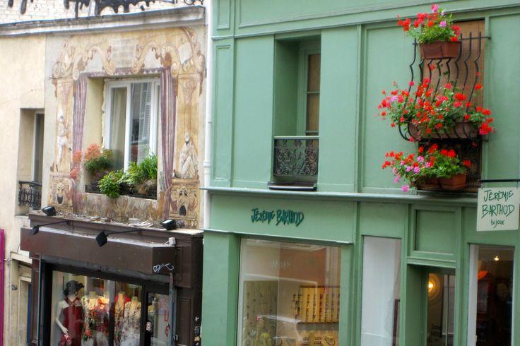 Montmartre neighborhood in paris