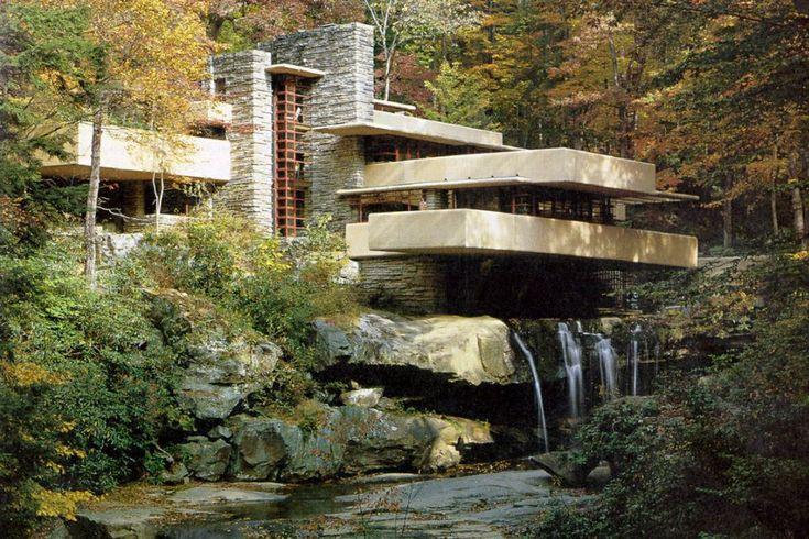 Casa de la cascada frank lloyd wright arquitectura del for Frank lloyd wright casa della prateria