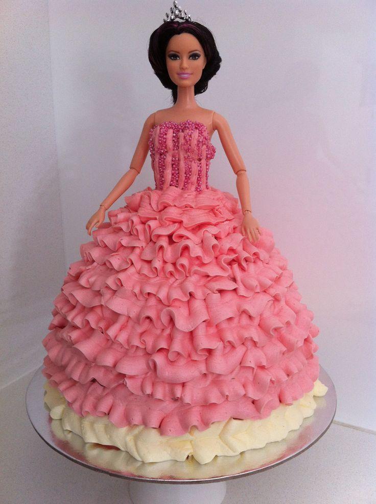 Princess Birthday Cake With Doll Image Inspiration of Cake and