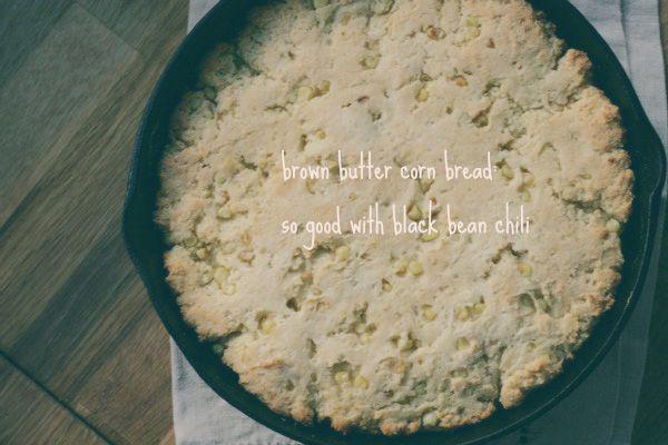 melissa clark's brown butter cornbread via cooking after five.