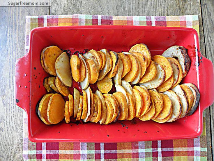 Sweet Potato & Apple Bake with Honey Glaze Option | Recipe