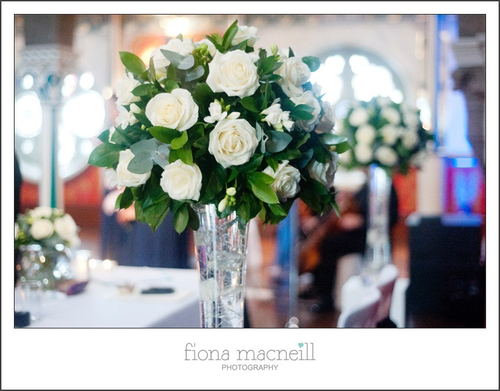 Mood Flowers Glasgow Wedding : Mood flowers oran mor wedding centerpiece inspiration