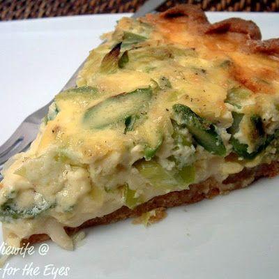 Asparagus, Leek and Gruyere Quiche | nomz | Pinterest