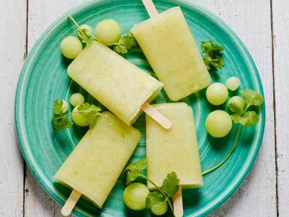 Take advantage of melon season with Honeydew Melon and Cilantro Ice Pops