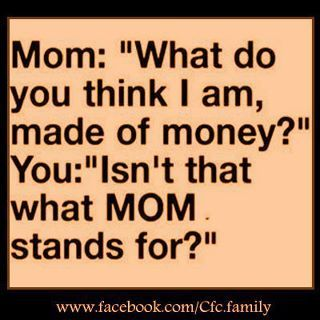 What your kids think Mom stands for...