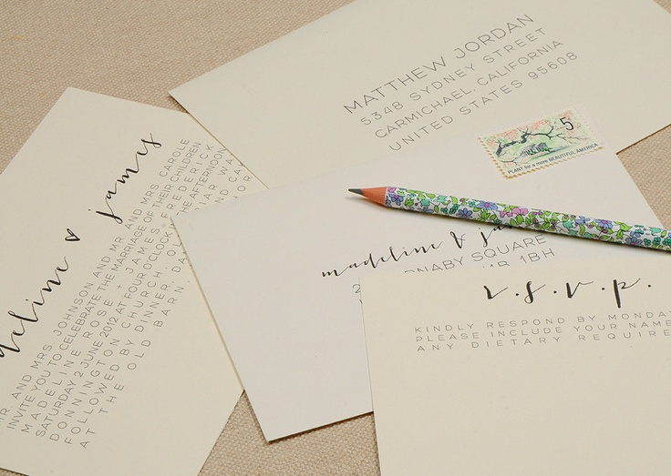 Modern Calligraphy Wedding Invitations : Modern Calligraphy Wedding Invitations.