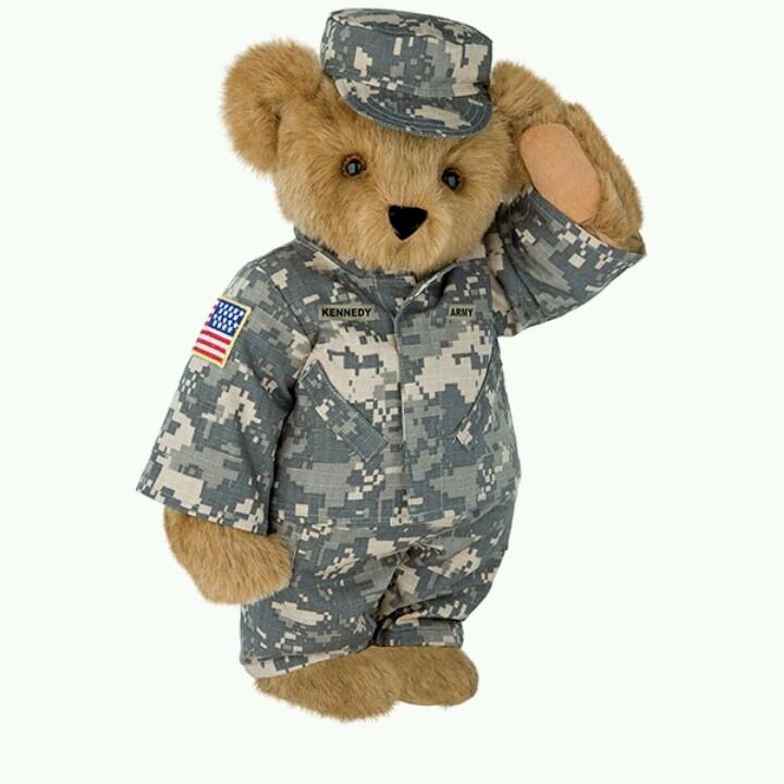 Army Bear Teddy Bears Pinterest