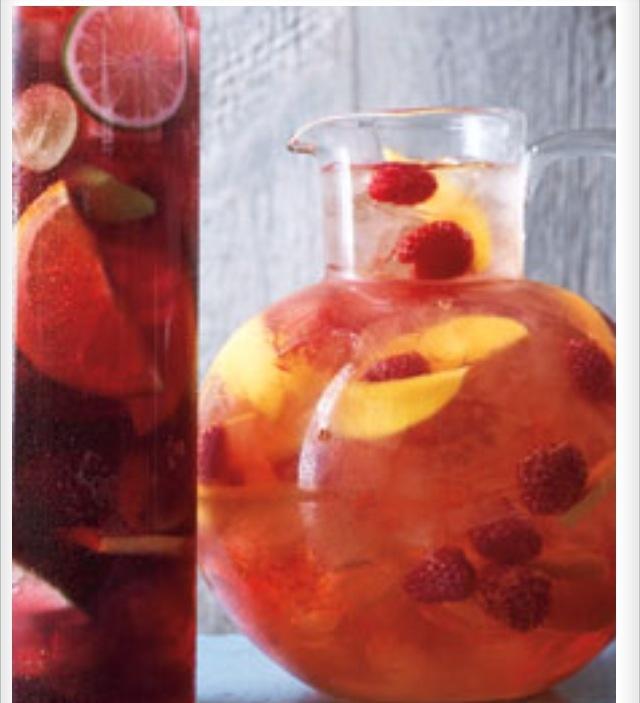 Raspberry and mango sangria | Yummy | Pinterest