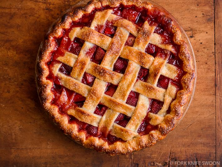 Lattice Top Strawberry Pie | Recipe