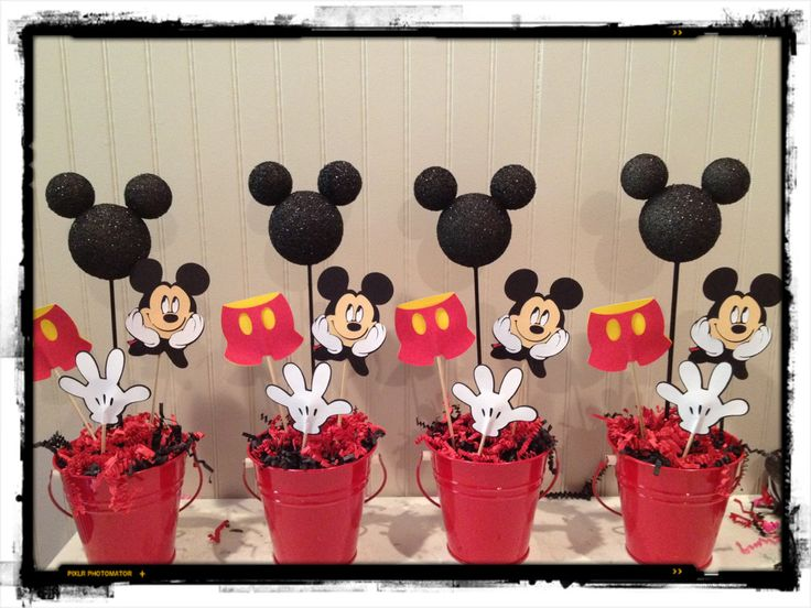 Mickey Mouse Birthday centerpieces  Mickey Party  Pinterest