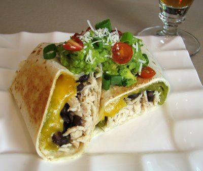 Shredded Chicken, Green Chile, Black Bean and Cheddar Cheese ...