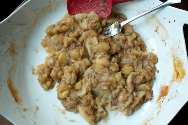 roasted apple sauce! mashed apples