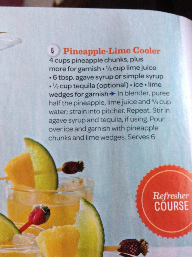 Pineapple lime cooler | Coffee/Beverages | Pinterest