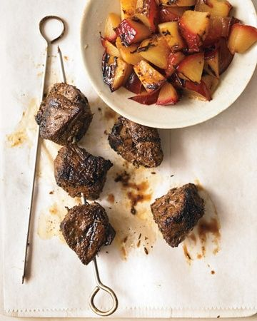Grilled Spiced Lamb Skewers with Plums | Let's Eat! | Pinterest