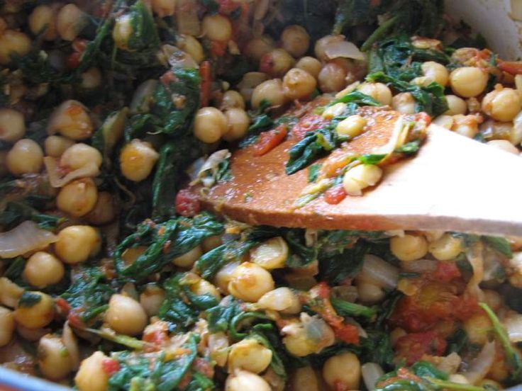 Spinach And Chickpea Bake | Chickpea recipes | Pinterest
