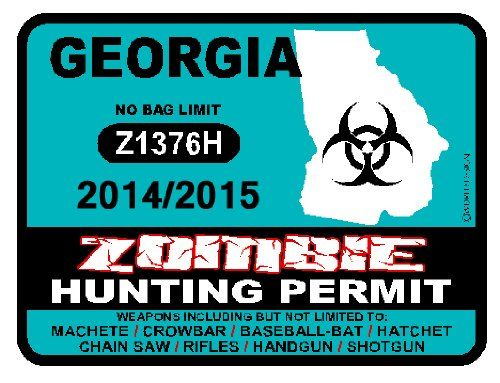 Georgia zombie hunting permit zombie hunting permits for How much is a georgia fishing license