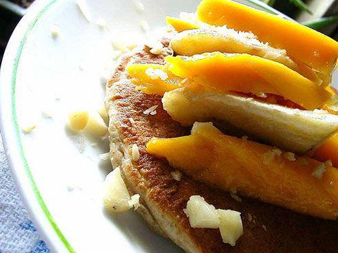 mango & banana pancakes | Breakfast Ideas | Pinterest