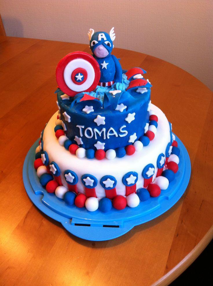Captain America Cake Fondant Cake Torten Fondant Cake ...