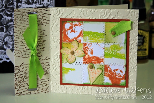 A card, made with leftover pieces