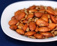 sweet and spicy roasted nuts | fashionista | Pinterest