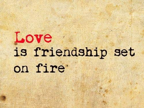 """""""True love is friendship set on fire."""" I opened Eternal Nights with this French proverb"""