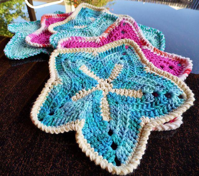 Starfish Dishcloths by pinkleo Crafty Me Pinterest