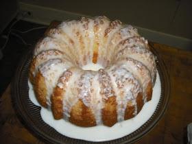 Favorite Family Recipes: Cream Cheese Pound Cake with Lemon Glaze