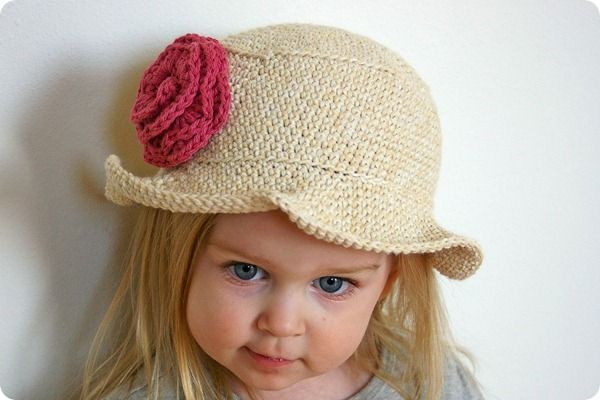 Free Knitting Pattern Baby Sun Hat : Crochet Sun Hat (link to pattern) Crochet for Little Girls Pinter?