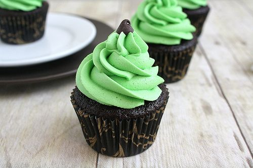 mint chocolate chip cupcakes | Crazy About Cupcakes | Pinterest