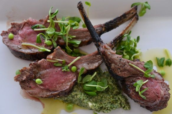 Grilled Lamb Chops With Mint Pesto | Food Porn | Pinterest