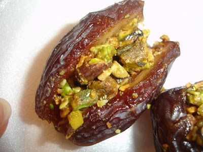 THE CANDID RD: Honey and Pistachio Stuffed Dates