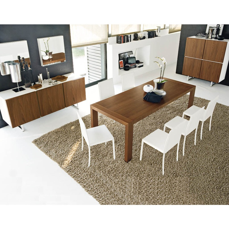 Dining Table -- Calligaris Modern Extendable Dining Table (R)